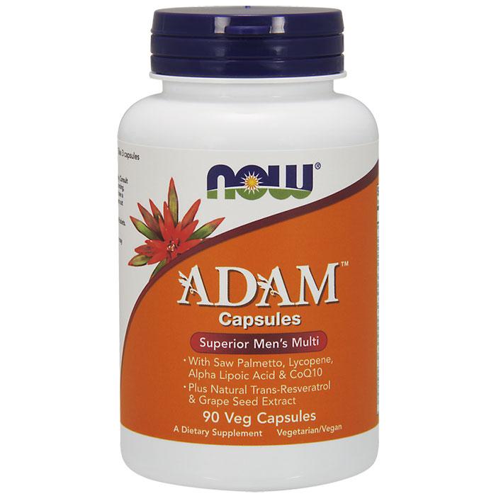 ADAM Cap, Superior Mens Multi Vitamins, 90 Vegetarian Capsules, NOW Foods