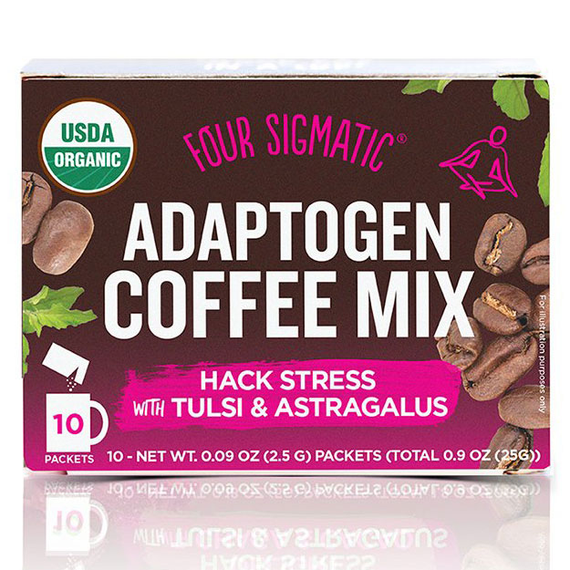 Adaptogen Coffee Mix with Tulsi & Astragalus, 10 Packets, Four Sigmatic