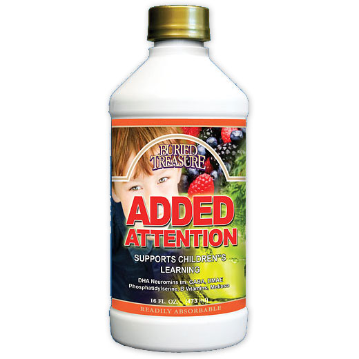 Added Attention Liquid Supplement, Childrens Concentration, 16 oz, Buried Treasure Liquid Nutrients