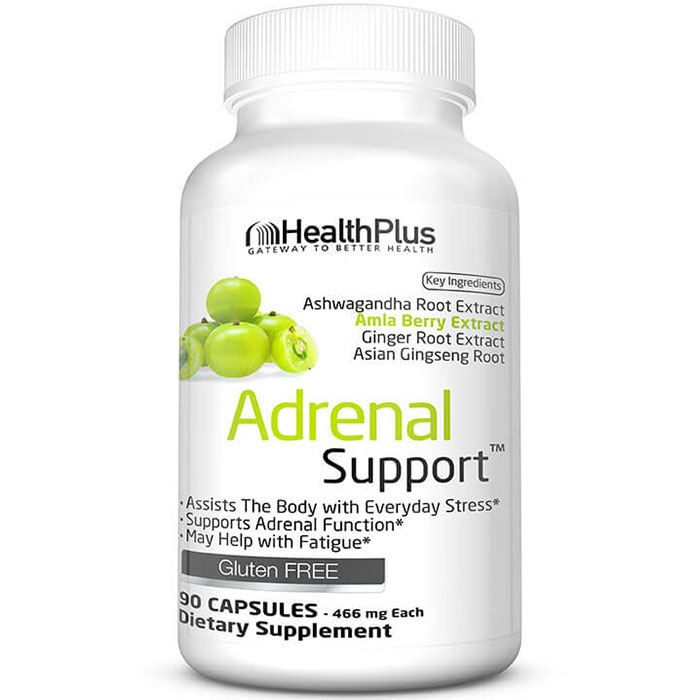 Adrenal Support (Adrenal Cleanse), 90 Capsules, Health Plus Inc.
