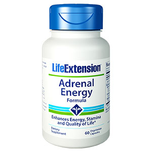 Adrenal Energy Formula, 60 Vegetarian Capsules, Life Extension