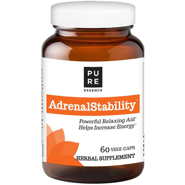 AdrenalStability (Adrenal Stability), 60 Vegetarian Capsules, Pure Essence Labs