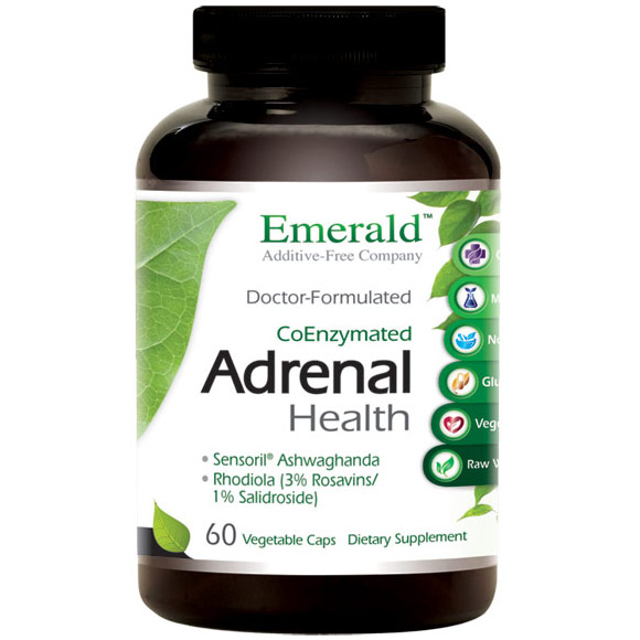 Adrenal Health, 60 Vegetable Capsules, Emerald Labs