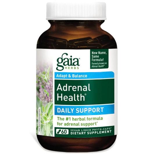 Adrenal Health Daily Support, 60 Vegan Liquid Phyto-Caps, Gaia Herbs