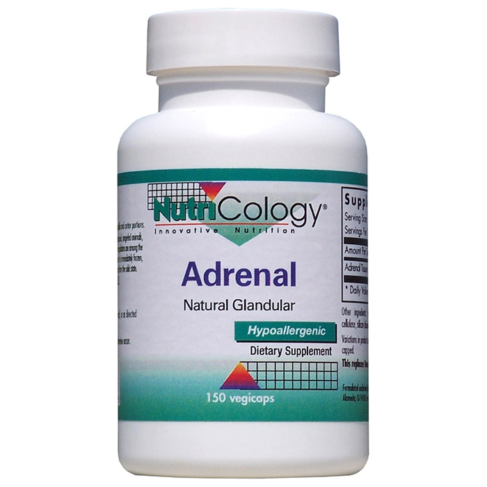 Adrenal Natural Glandular, 150 Capsules, NutriCology