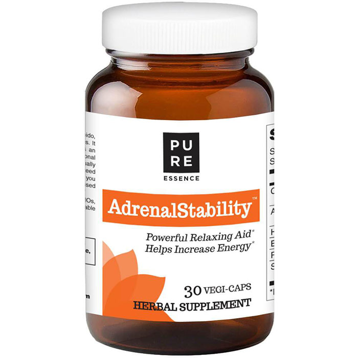 AdrenalStability, Powerful Adrenal Support, 30 Vegetarian Capsules, Pure Essence Labs