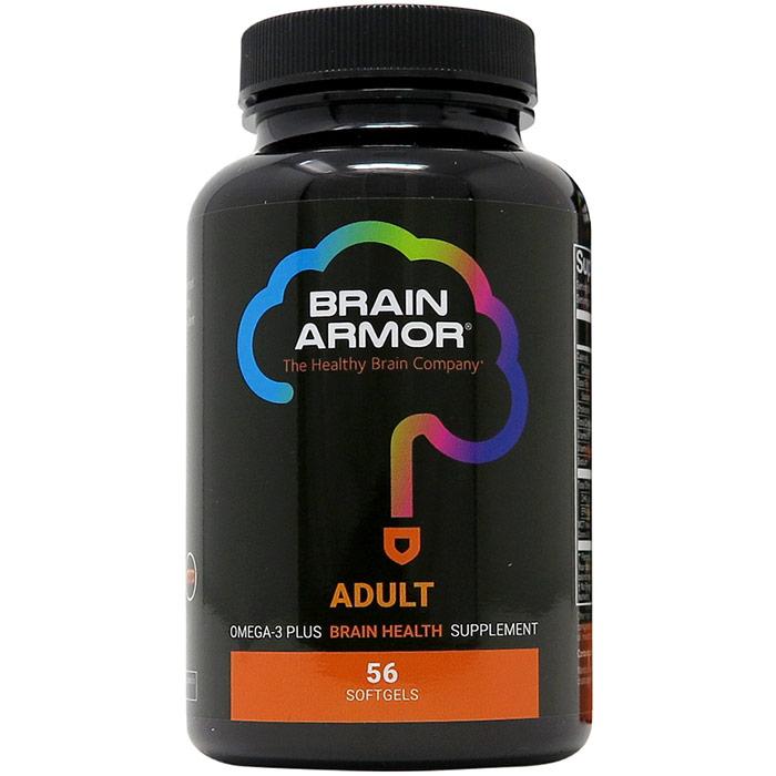 Adult Brain Nutrient Formula, 56 Softgels, Brain Armor