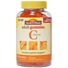 Nature Made Adult Gummies Vitamin C Chewable, Orange, 80 Gummies