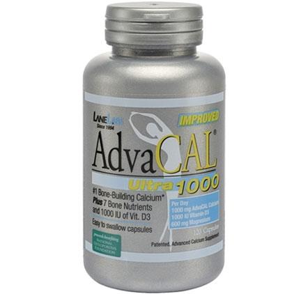 AdvaCal Ultra 1000, Bone-Building Calcium, 120 Capsules, Lane Labs