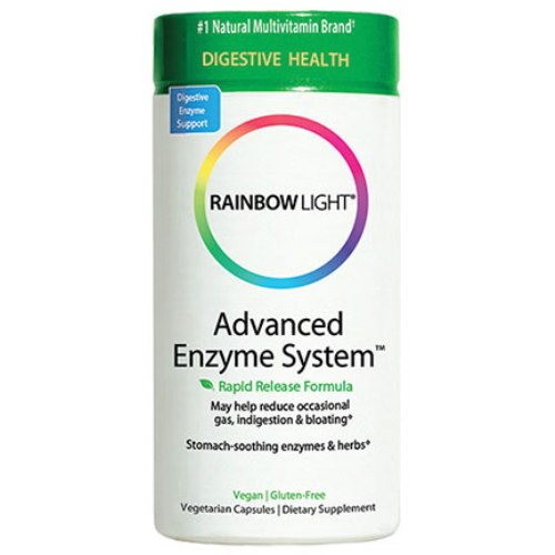 Advanced Enzyme System, Plant-Source with Soothing Herbs, 180 Vegetarian Caps, Rainbow Light
