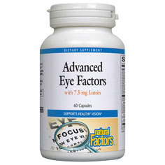 Advanced Eye Factors with Lutein, 60 Capsules, Natural Factors