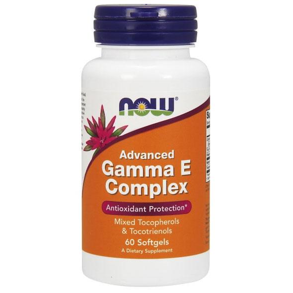 Advanced Gamma E Complex, Vitamin E 60 Softgels, NOW Foods