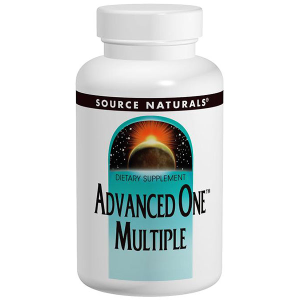 Advanced One Multiple, Multi Vitamins, Minerals, and Nutritional, 60 tabs from Source Naturals
