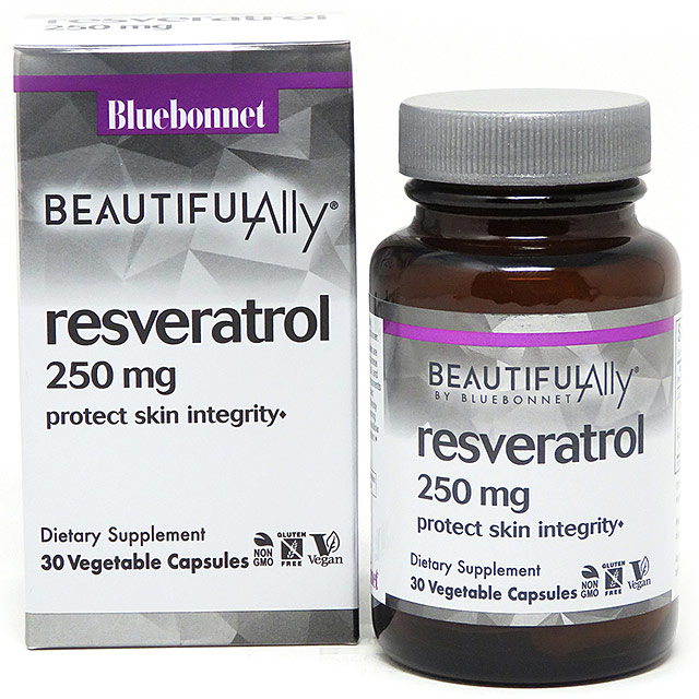 Age-Less Trans-Resveratrol 250 mg, 30 Vegetable Capsules, Bluebonnet Nutrition