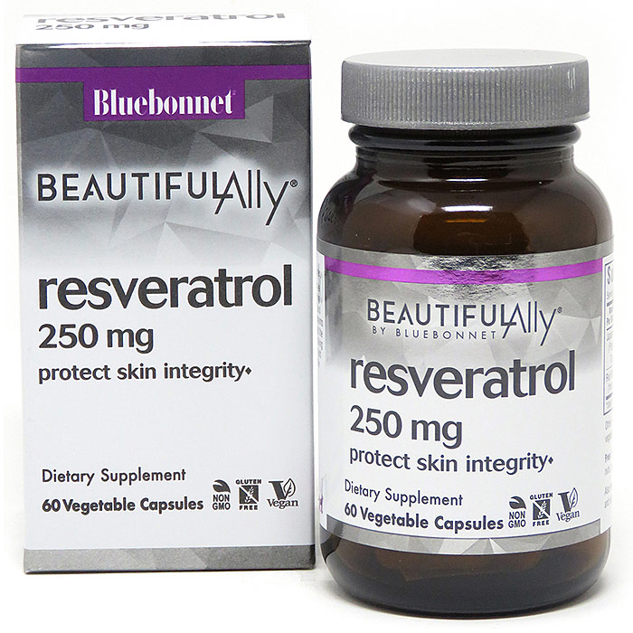Age-Less Trans-Resveratrol 250 mg, 60 Vegetable Capsules, Bluebonnet Nutrition