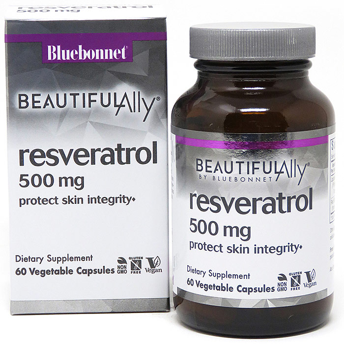 Age-Less Trans-Resveratrol 500 mg, 60 Vegetable Capsules, Bluebonnet Nutrition