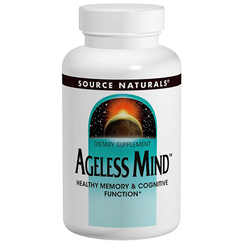 Image of Ageless Mind, 60 Tablets, Source Naturals