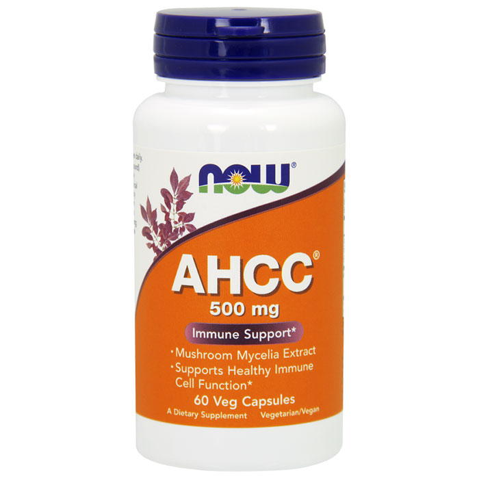 AHCC 500 mg, 60 Vcaps, NOW Foods