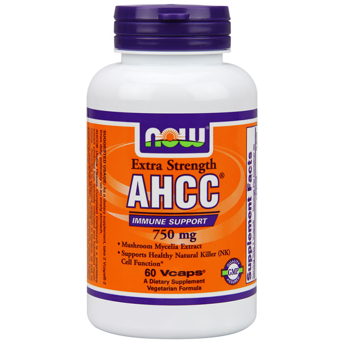 AHCC 750 mg, 60 Vcaps, NOW Foods