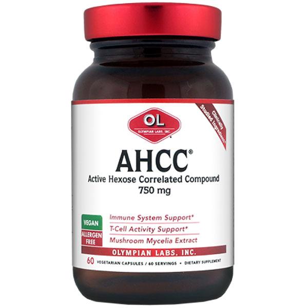 AHCC 750mg, 60 Capsules, Olympian Labs
