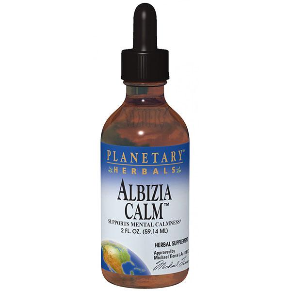 Albizia Calm Liquid, Anxiety & Stress, 4 oz, Planetary Herbals