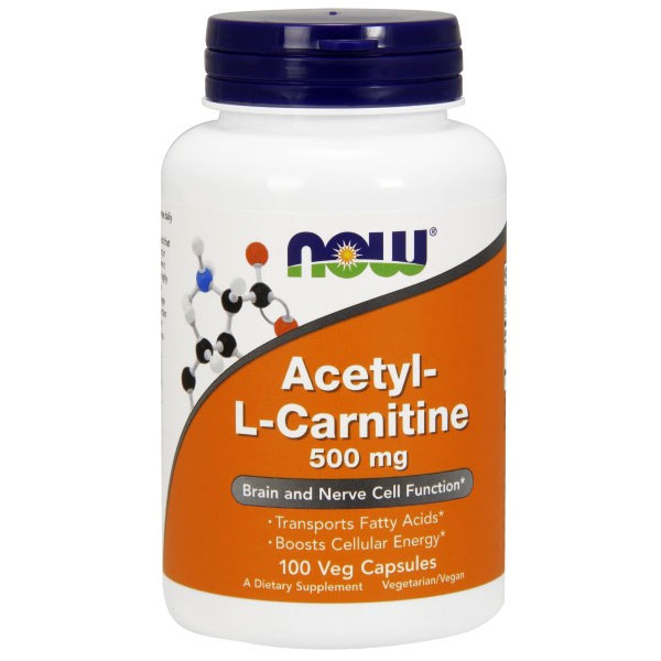 ALC Acetyl L Carnitine 500 mg 100 Caps, NOW Foods