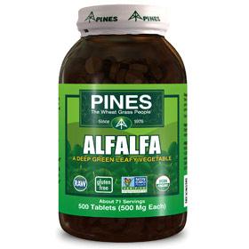 Alfalfa Tabs, 500 Tablets, Pines International
