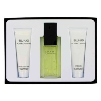 Alfred Sung Perfume for Women Gift Set (Eau De Toilette Spray, Body Lotion & Shower Gel), 1 Set, Alfred Sung