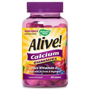 Alive! Calcium Gummy, 60 Gummies, Natures Way
