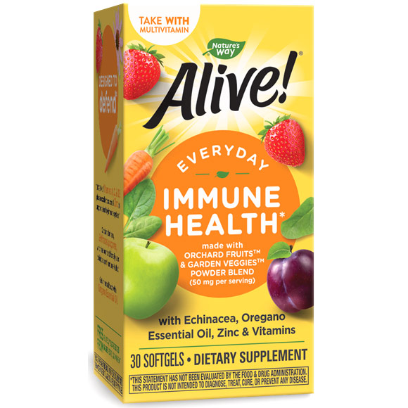 Alive! Everyday Immune Health, 30 Softgels, Natures Way