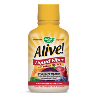 Alive! Liquid Fiber - Pomegranate Berry, 16 oz, Natures Way