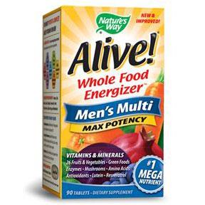 Alive Mens Multi Vitamins Max Potency, 90 Tablets, Natures Way