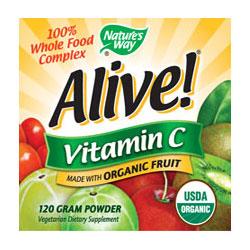 Alive! Organic Vitamin C Powder, 120 g, Nature's Way