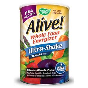 Alive! Ultra-Shake Pea Protein, Vanilla Shake, 2.2 lb, Natures Way