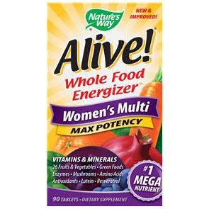 Alive Womens Multi Vitamins Max Potency, 90 Tablets, Natures Way