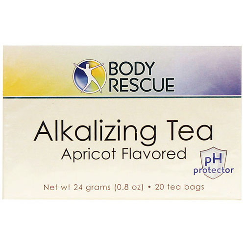 Alkalizing Tea, Apricot Flavored, 20 Bags, Body Rescue