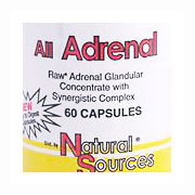 All Adrenal, 60 Capsules, Natural Sources