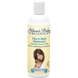 All Natural Baby Lotion, Face & Body Moisturizer, Fragrance Free, 8 oz, Nature's Baby Products