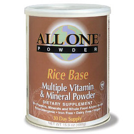 All One Rice Base Multivitamin Powder 30 Day Supply 15.9 oz, All One Nutritech