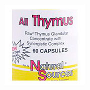 All Thymus, 60 Capsules, Natural Sources