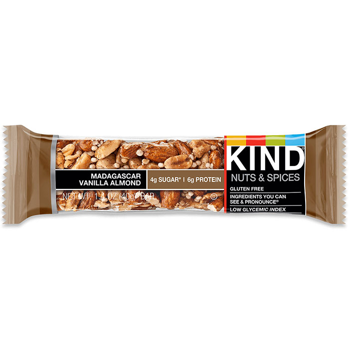 Almond, Walnut & Macadamia Plus Bar, 1.4 oz x 12, KIND Fruit & Nut Bars