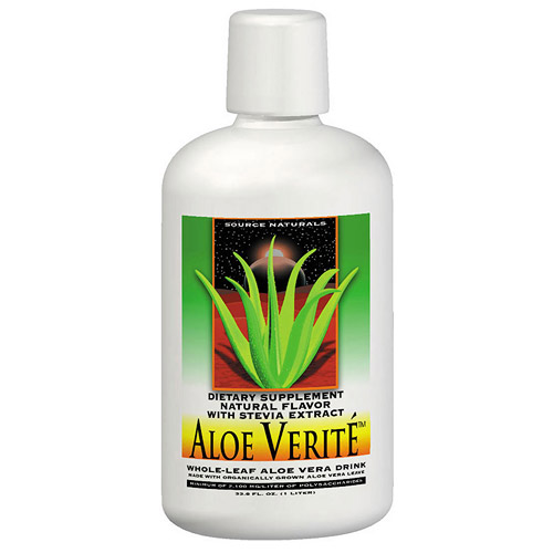 Aloe Verite Natural, Aloe Vera Liquid Drink 33.8 fl oz from Source Naturals