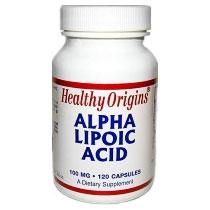 Alpha Lipoic Acid 100 mg, 120 Capsules, Healthy Origins