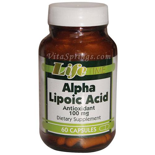 Alpha Lipoic Acid 100 mg, 60 Capsules, LifeTime