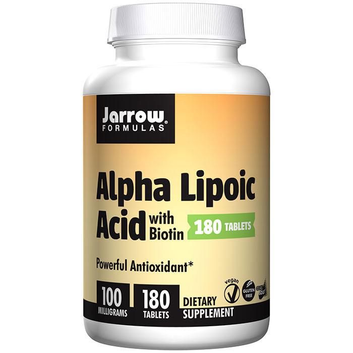 Alpha Lipoic Acid 100 mg with Biotin, 180 Tablets, Jarrow Formulas