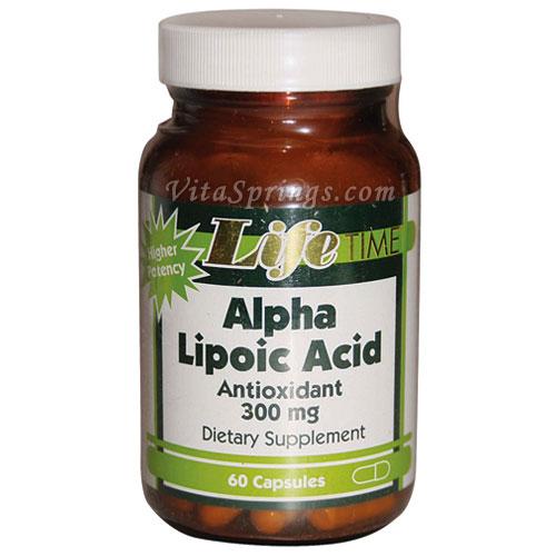 Alpha Lipoic Acid 300 mg, 60 Capsules, LifeTime