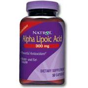 Alpha Lipoic Acid (ALA) 300mg 50 caps from Natrol