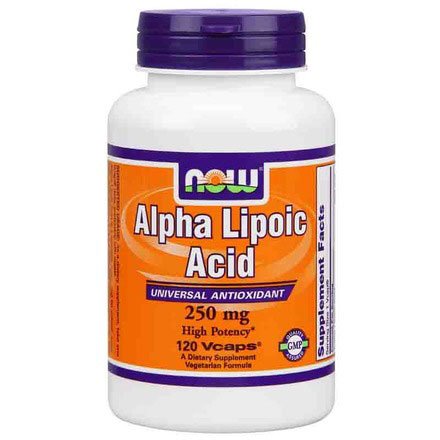 Alpha Lipoic Acid 250mg, ALA 120 Caps, NOW Foods