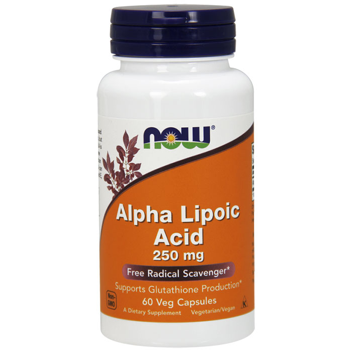 Alpha Lipoic Acid 250mg, ALA 60 Caps, NOW Foods