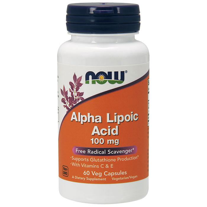 Alpha Lipoic Acid 100mg, ALA 60 Vcaps, NOW Foods